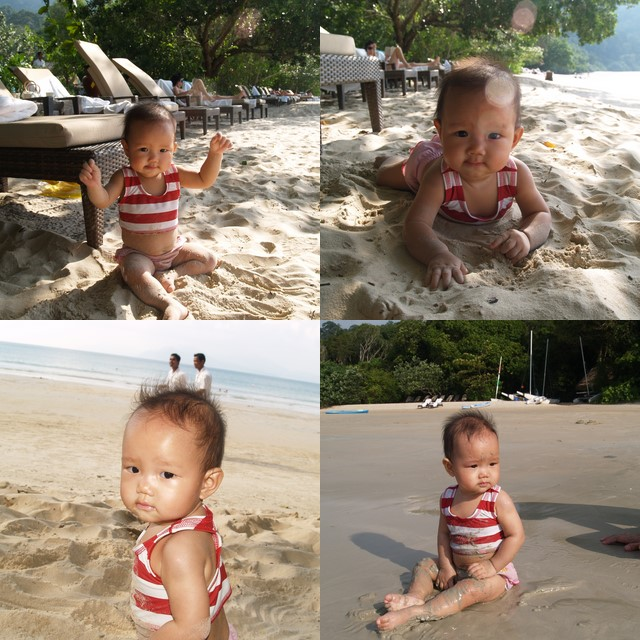 Zaria at the Datai beach