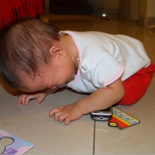 Zaria throwing tantrum