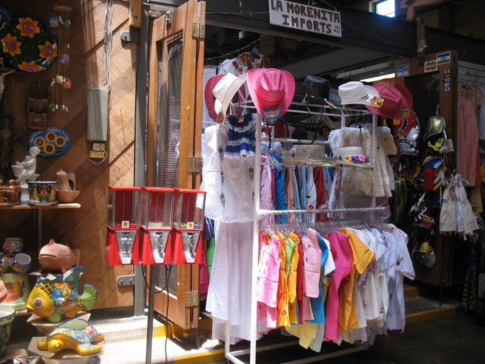 Goods For Sale in the Mercado