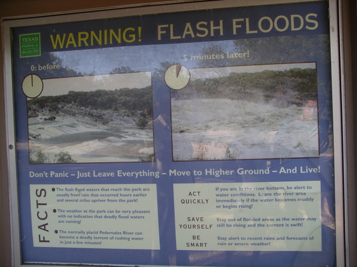 Flash Flood Warning Sign