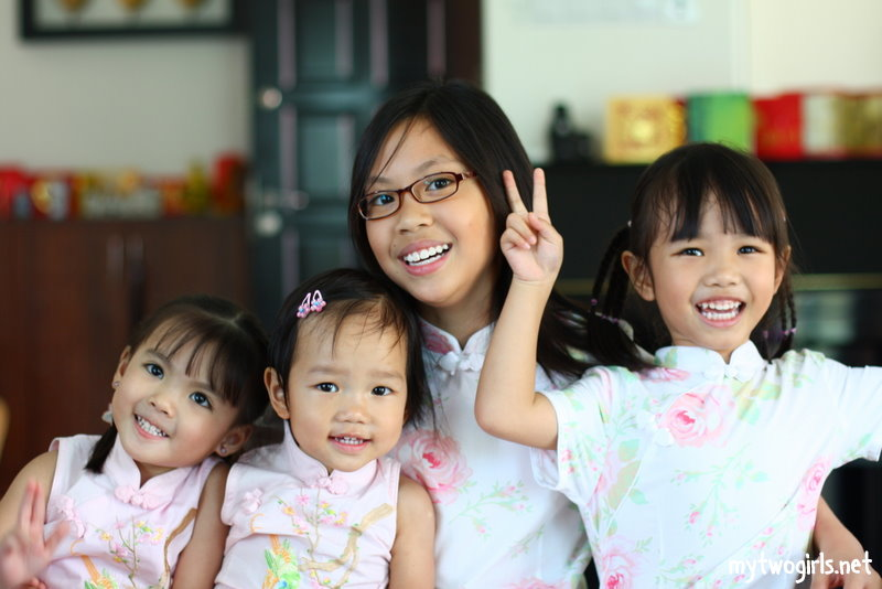 Girls and their cousins in similar cheong sum