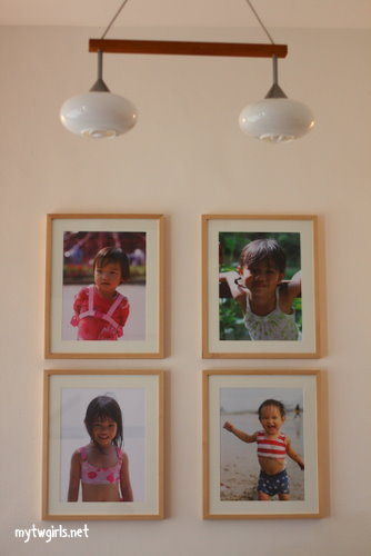 Girls' photos on the wall