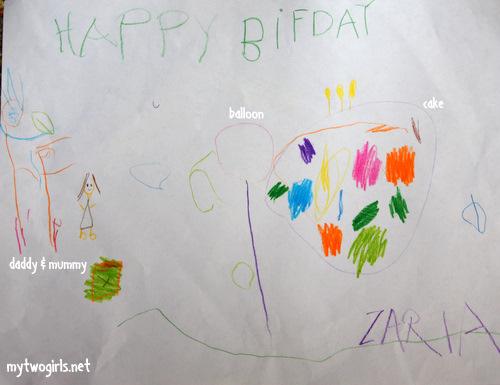 Zaria's Birthday drawing