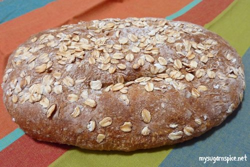 Bread made with maize and wheat flour with sunflower seeds