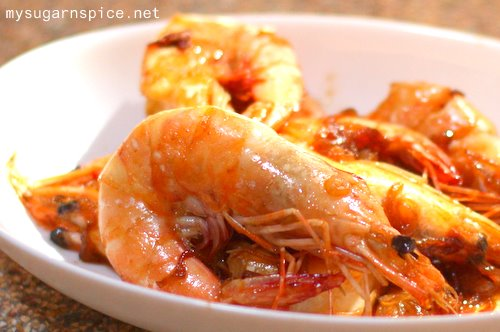Or Fried Prawns with Soya Sauce