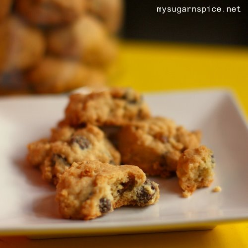 Chocolate Chip and Pecan Nut Cookies