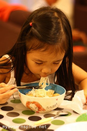 Zara having CNY eve dinner