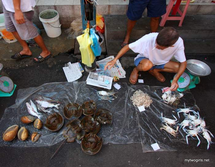 Fish monger on the street