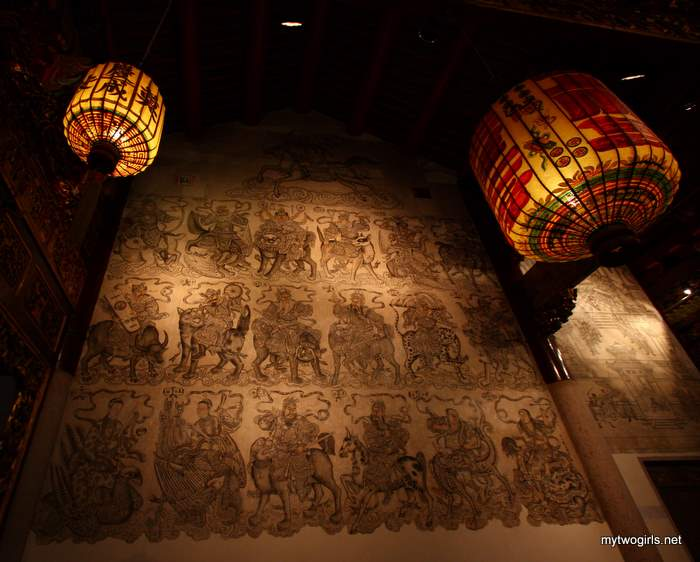 Khoo Kongsi - Drawing on the wall in Leong San Tong