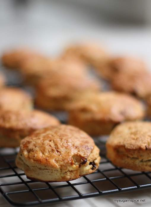 Scones just out of the oven