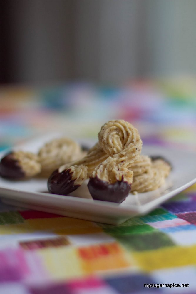 Hazelnut Twirls Coated With Chocolate