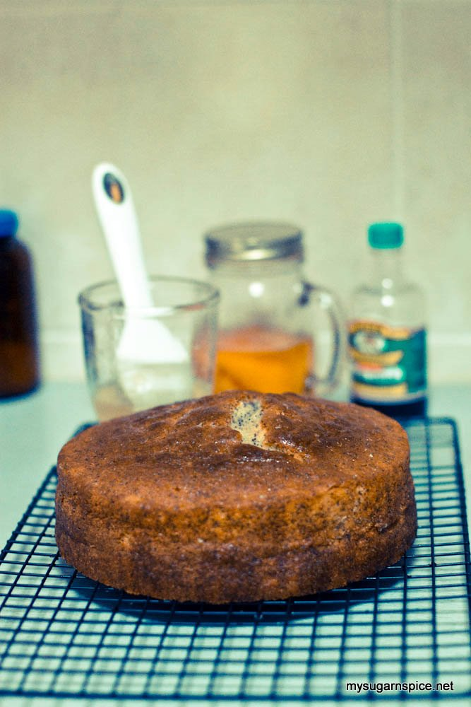 Lemon Poppy Seed Sour Cream Cake