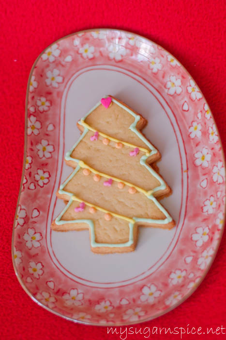 Christmas Tree Biscuit