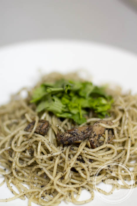Pasta with Black Sesame Sauce
