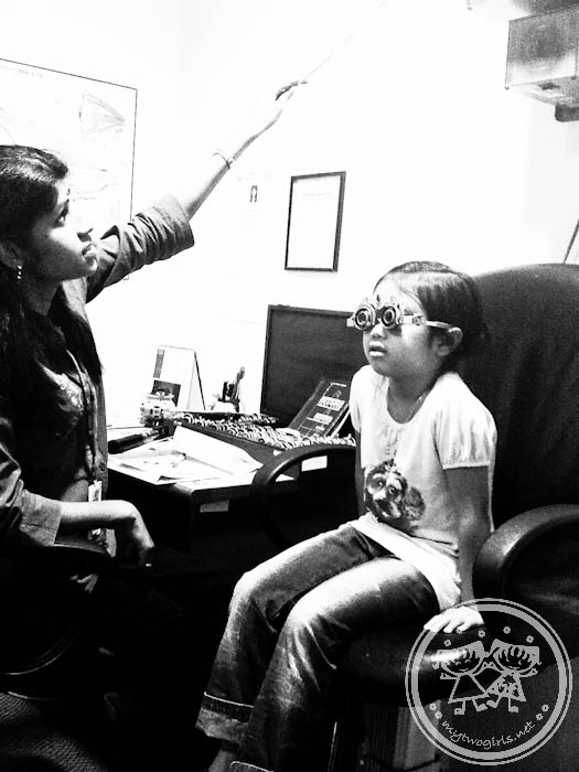 Zara with Optometrist in THONEH