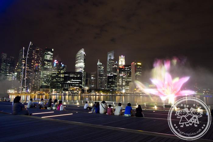 Marina Bay Sands - Fountain & Laser Show
