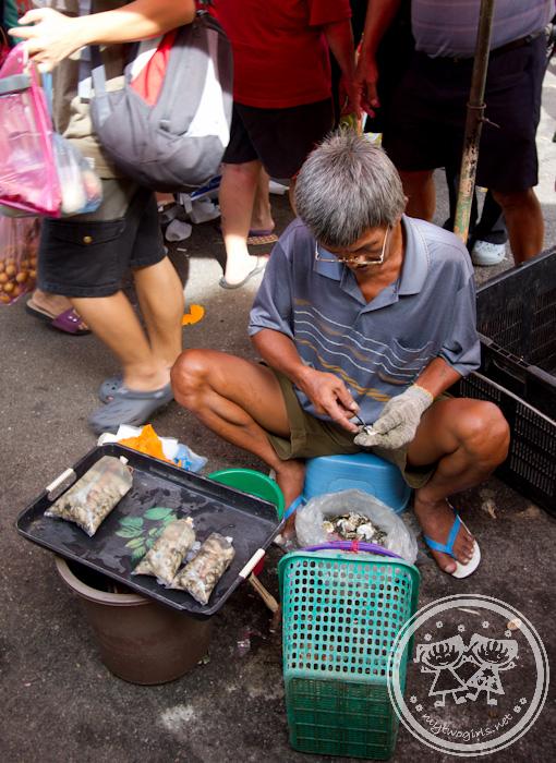 Oyster seller