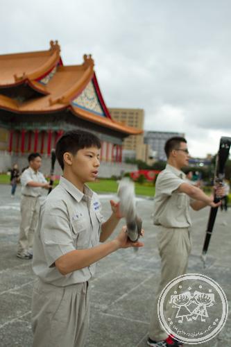 School team practicing march