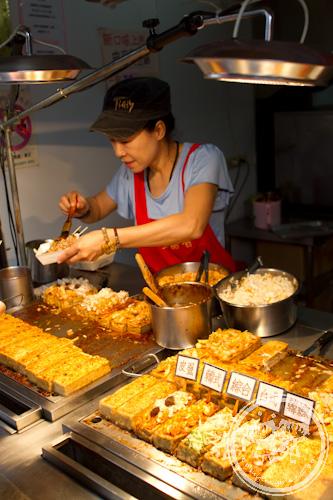 Stinky tofu seller