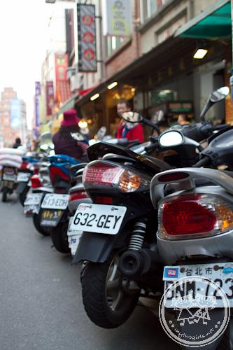 Motorbikes at Danshui