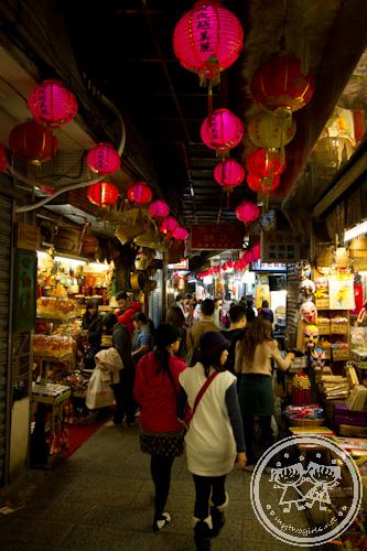 Jiufen Old Street in the night
