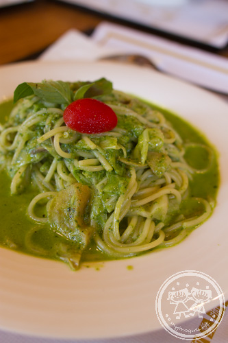 Spagetti with Taiwanese Pesto