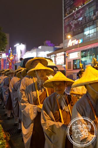Buddhist monk procession in Taipei