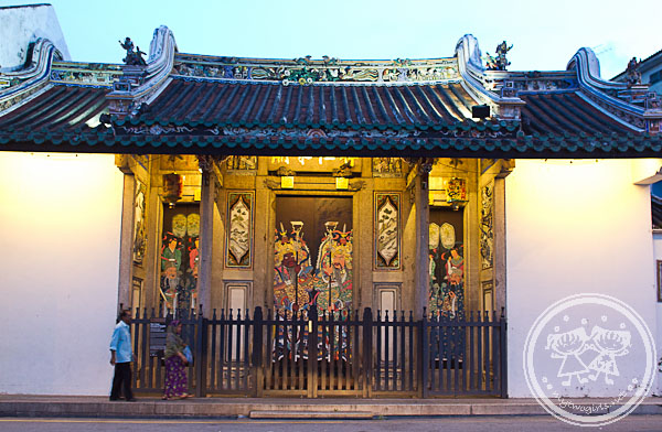 Teowchew Temple at dusk