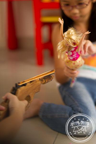 Zaria robbing Barbie