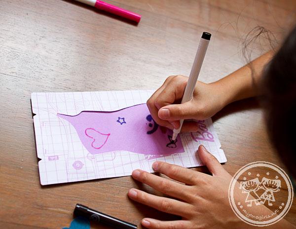 Zara designing Barbie's dress