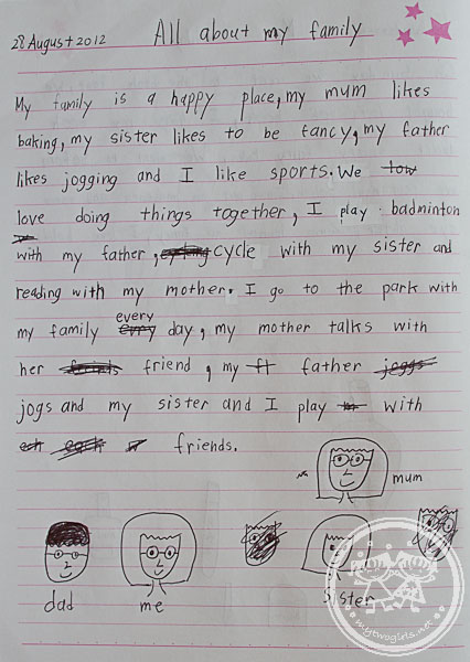 Zara's writing - All About Her Family