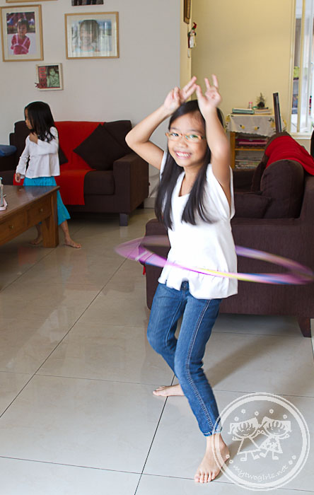 Zara on the Hula-hoop