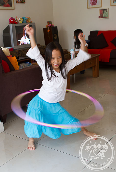 Zaria on the Hula-hoop