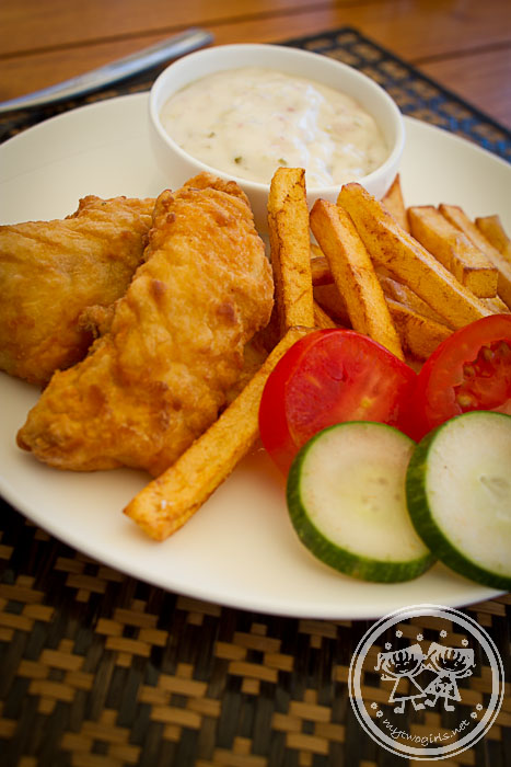 Jeeva Beloam lunch - fish and chips