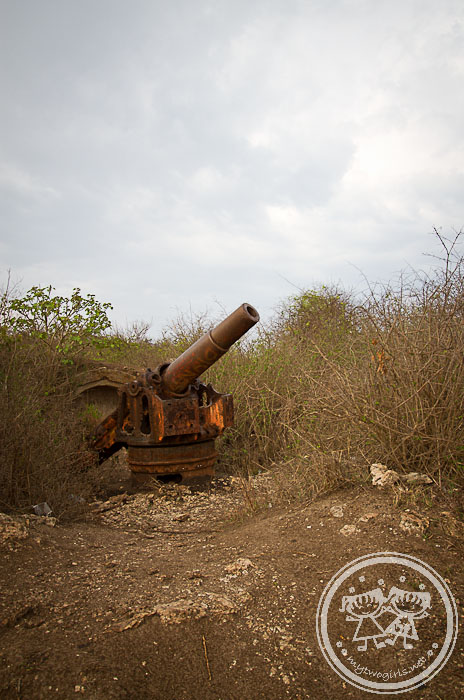 Tanjung Ringgit Japanese WW2 cannon