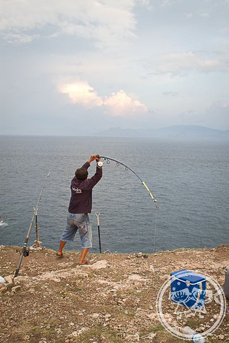 Cliff Fisherman at Tanjung Ringgit