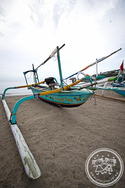 Boat At Senggigi Beach