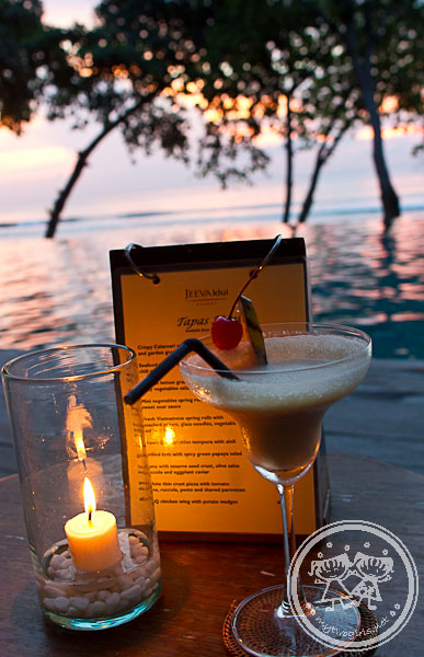 Sunset drink at Jeeva Klui