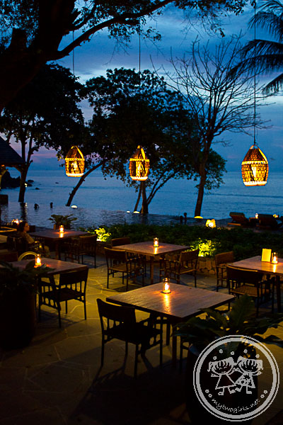 Jeeva Klui Restaurant at sunset