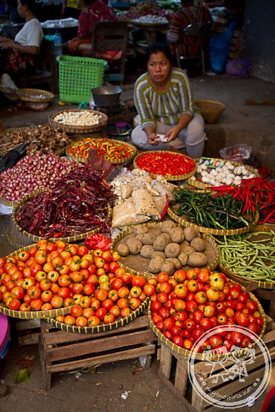 Vegetable Seller At Kebon Roek