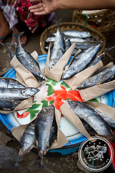 Steamed Mackerel Being Sold At Kebon Roek Market