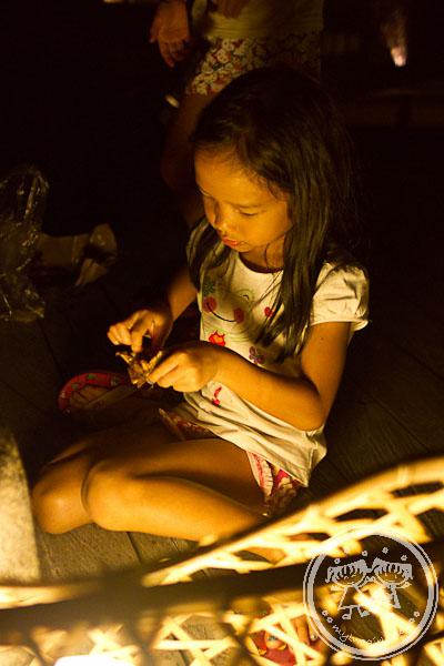 Zaria Eating Ayam Taliwang