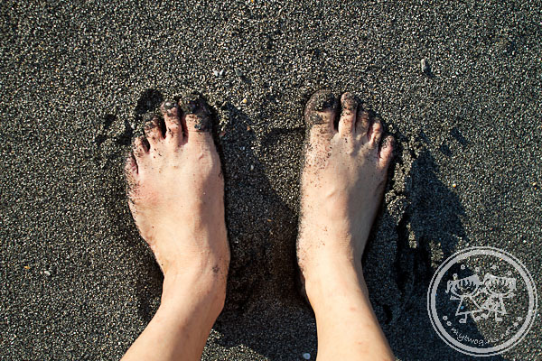 Volcanic Black Sand At Klui Beach