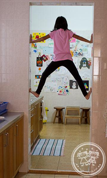 Zara climbing door frame