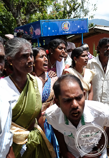 Women wailing and cheering at Tamil Celebration