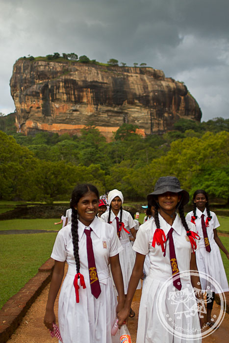 School girls at Sigiriya