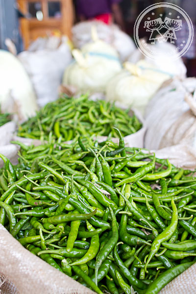 Chillies at Dambulla Wholesale Market