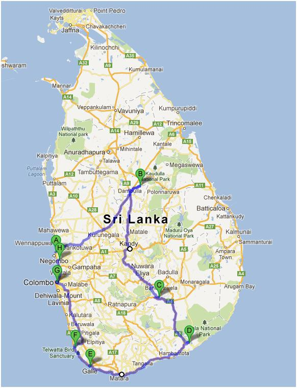 Sri Lanka Map