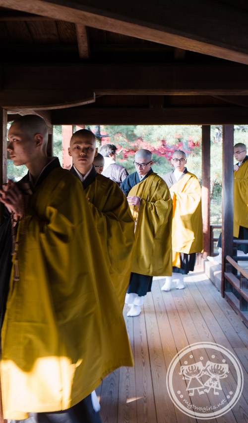 Monks at Daikakuji