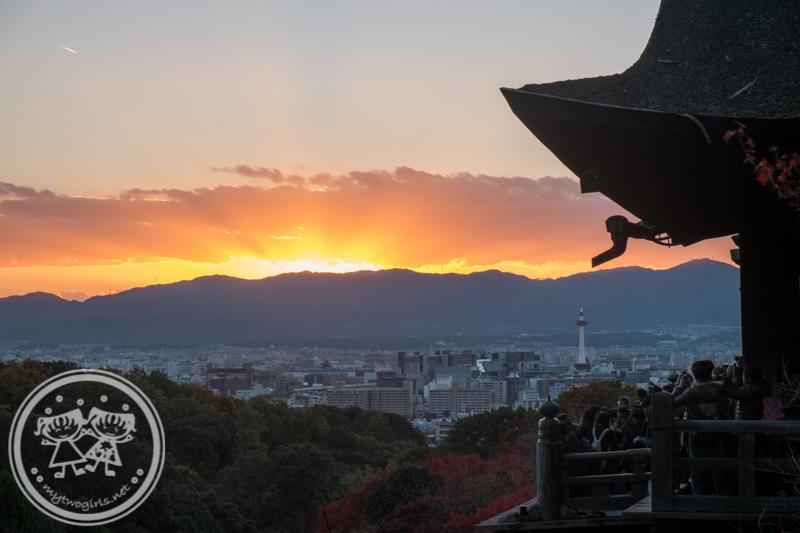 Sunset at Kiyomizu-dera